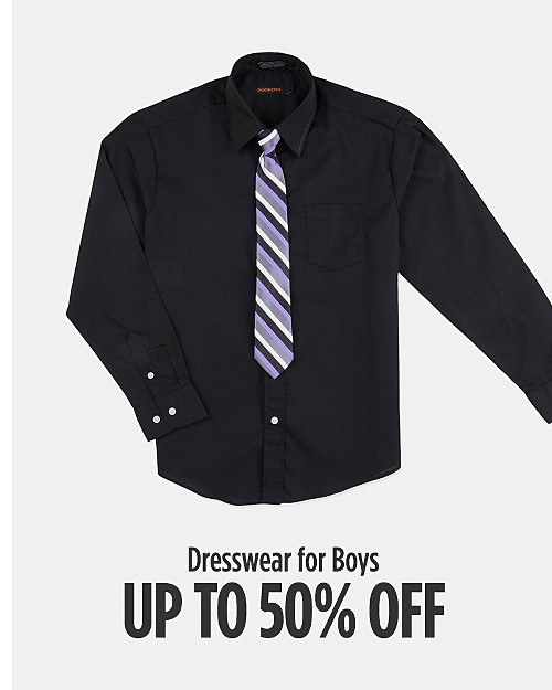Up to 50% off Dresswear for Boys. Shop now