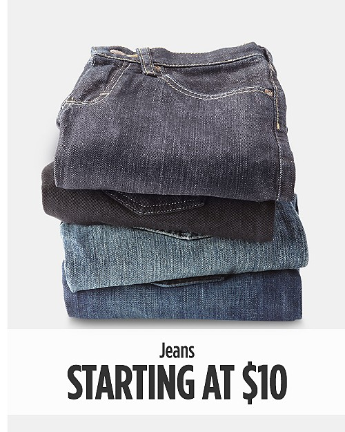 Jeans starting at $10