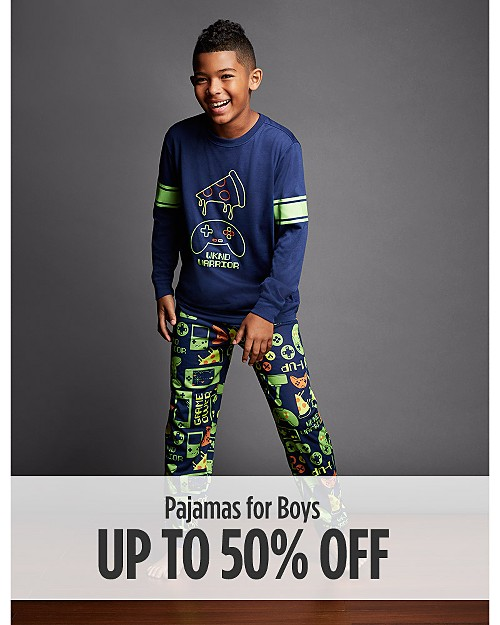 Up to 50% off pajamas for boys