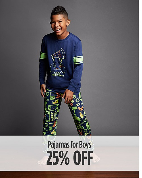 25% Off Pajamas for Boys
