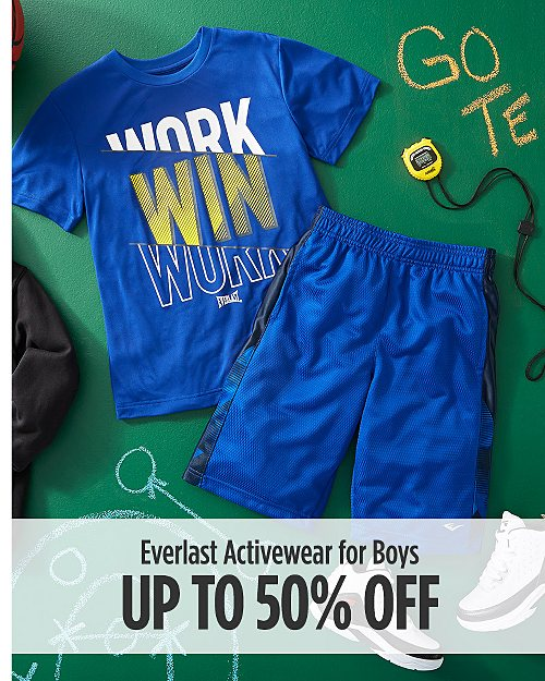 Up to 50% Off Everlast Activewear for Boys