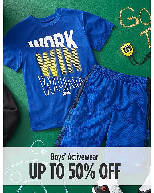 Up to 50% Off Boys' Activewear