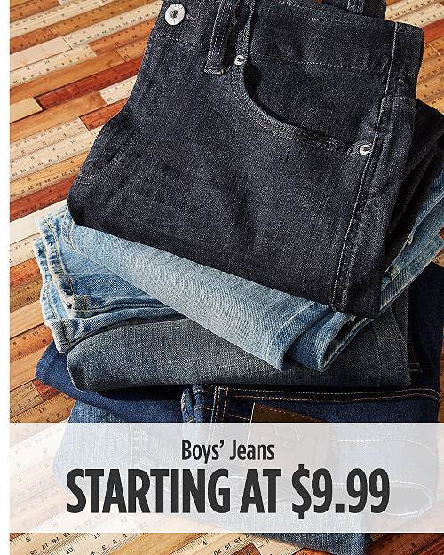 Boys' Jeans Starting at $9.99