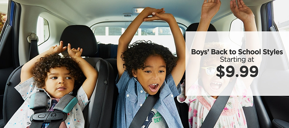 Boys' Back to School Styles Starting at $9.99