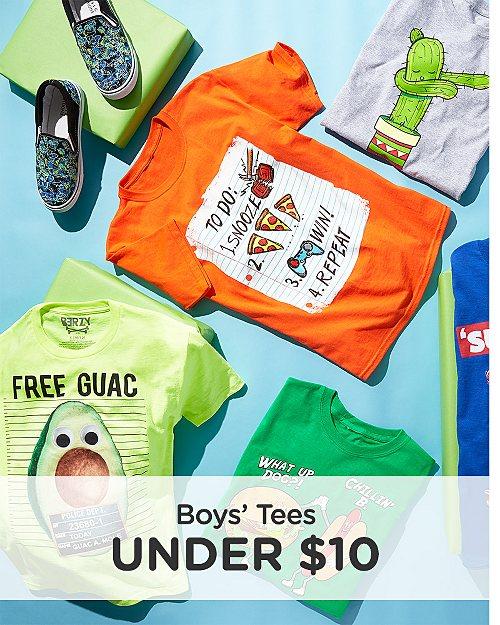 Boys' Tees Under $10