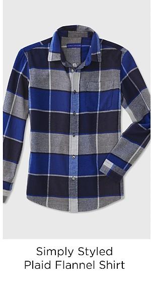 Simply Styled Boys' Flannel Shirt - Plaid