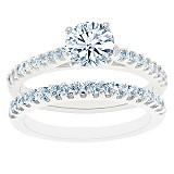 Cathedral Pave Diamond Bridal Set