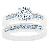 Channel Set Diamond Bridal Set