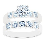 Bar Channel Diamond Bridal Set