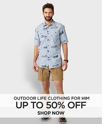 Up to 50% off Outdoor Life Clothing for Him. Shop Now.