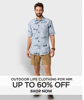 Up to 60% off Outdoor Life Clothing for Him. Shop Now.