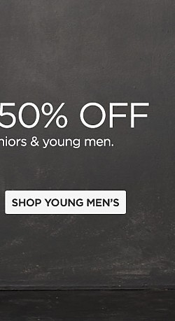 Up to 50% off Fashions for Juniors & Young Men