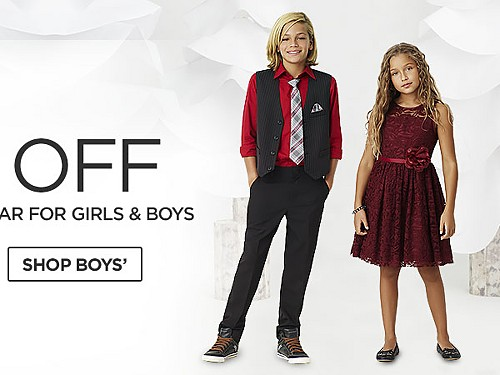 Up to 50% off Dresses and Dresswear for Girls and Boys