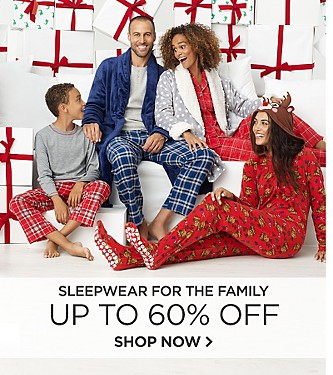 Up to 60% off Sleepwear for the Family