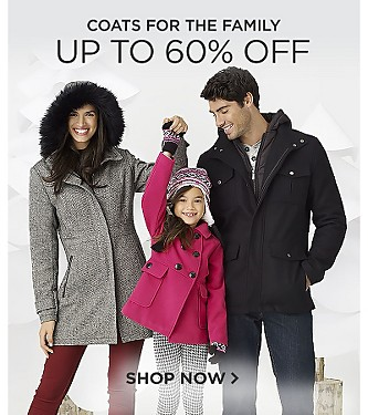 Up to 60% off Coats for the Family