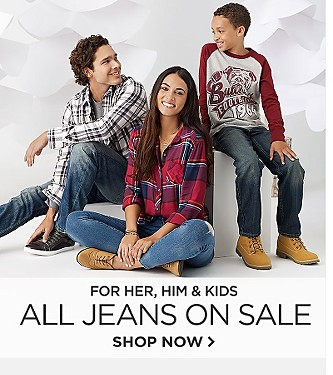 All Jeans  on Sale for Her, Him and Kids