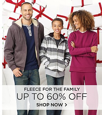 Up to 60% off Fleece for the Family