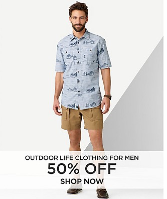 50% off Outdoor Life Clothing for Men