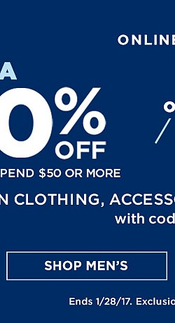 ONLINE ONLY! Extra 20% off when you spend $50 or more. Extra 15% off when you spend up to $49.99