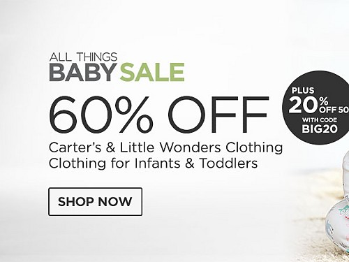 60% off Carter's and Little Wonders Clothing for Infants and Toddlers