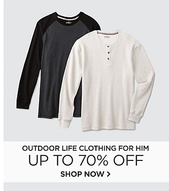 Up to 70% off Outdoor Life Clothing for Him
