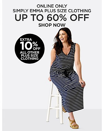 Online Only! Up to 60% off Simply Emma Plus Size Clothing. Shop Now