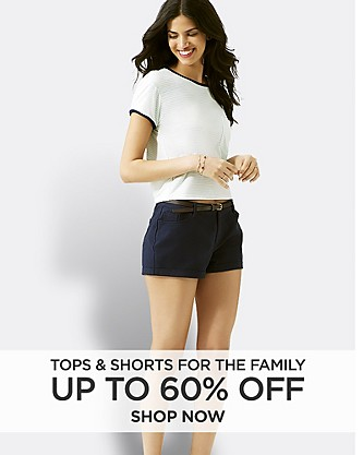 Up to 60% off Tops and Shorts for the Family. Shop Now.