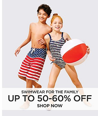 Up to 50-60% off Swimwear for the Family. Shop Now.