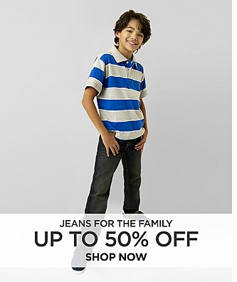 Up To 50% Jeans for the Family