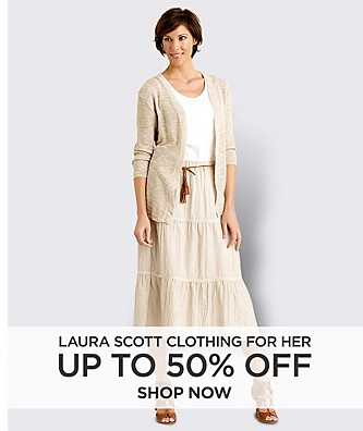 Up to 50% off Laura Scott Clothing for Her. Shop Now.
