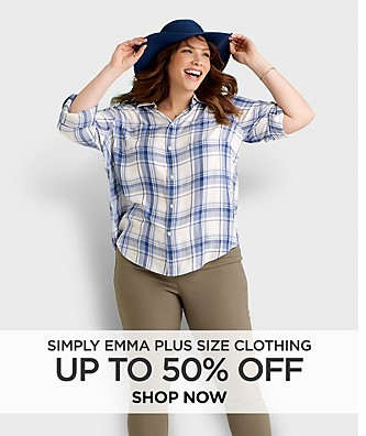 Up to 50% off Simply Emma Plus Size Clothing. Shop Now.