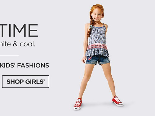Up To 50% Off Kids' Fashions. Shop Girls'.