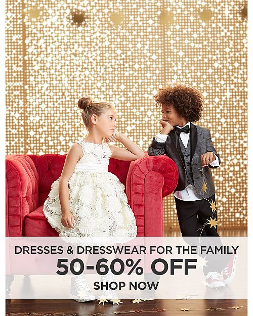 50-60% off Dresses and Dresswear For The Family. Shop Now.