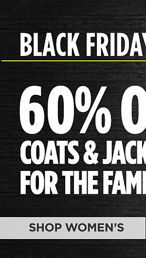 Black Friday Now! 60% off coats & jackets for the family online only. Shop Womens