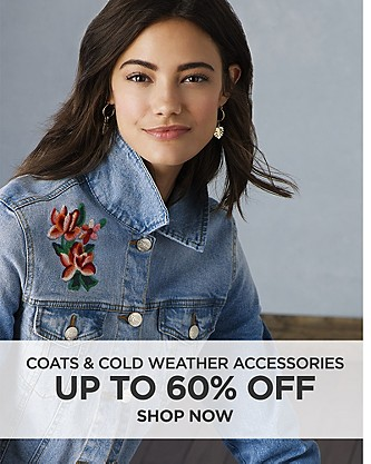 Up to 60% off coats & cold weather accessories. Shop Now