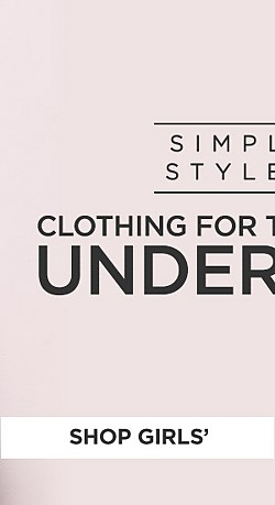 Simply Styled clothing for the family under $30. Shop Girls