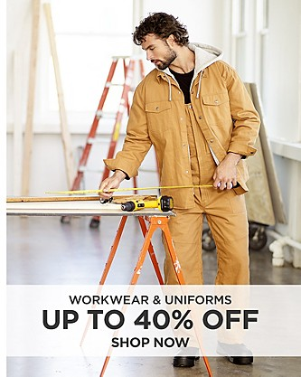 Up to 40% off Workwear & Uniforms. Shop Now