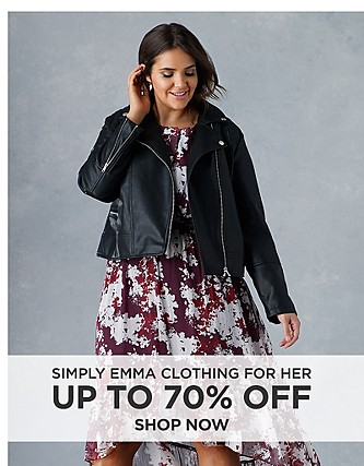 Up to 70% off Simply Emma clothing for her. Shop Now