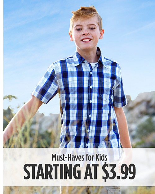 Must-Haves for Kids Starting at $3.99