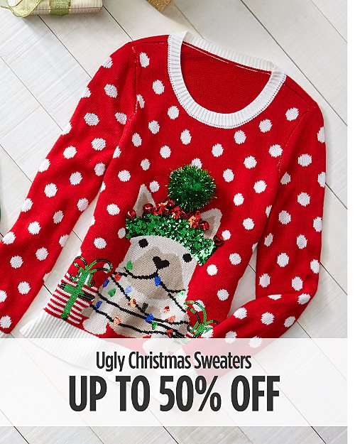 Up to 50% Off Ugly Christmas Sweaters