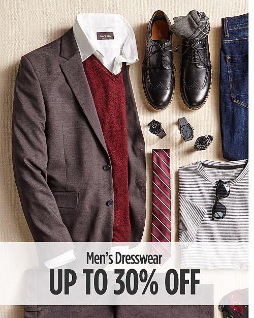 Up to 30% off Men's Dresswear