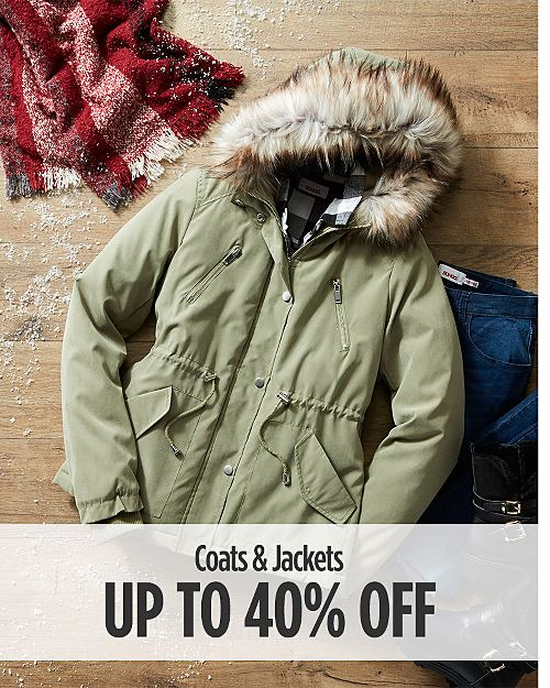 Up to 40% off Coats and Jackets