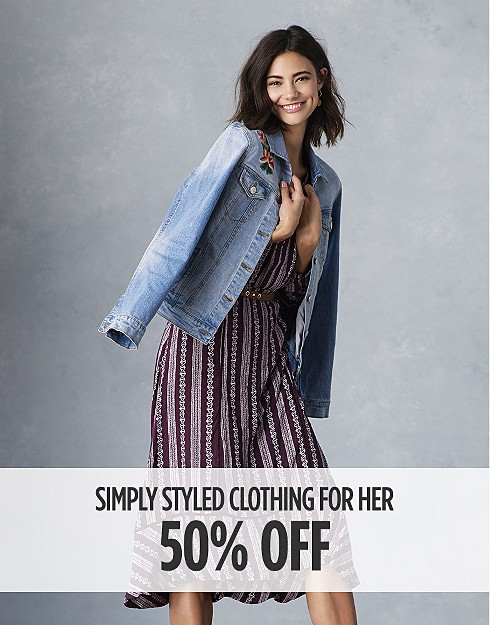 50% off Simply Styled clothing for her. Shop now