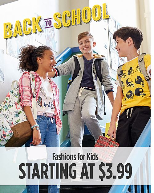 Back to School Fashions for Kids Starting at $3.99
