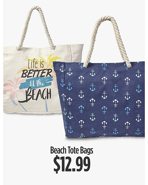 $12.99 Beach Tote Bags