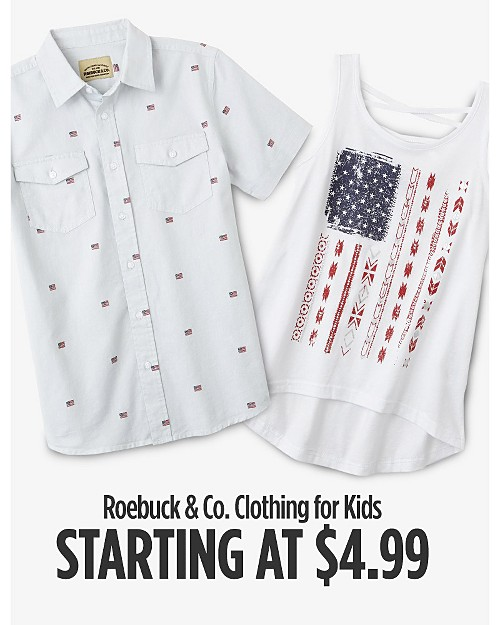 Roebuck & Co Clothing for Kids Starting at $4.99