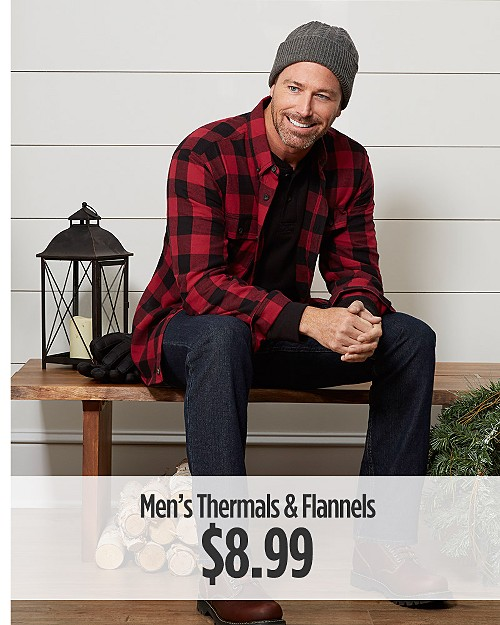 $8.99 Men's Thermals and Flannels