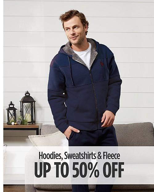 Up to 50% Off Hoodies, Sweatshirts & Fleece