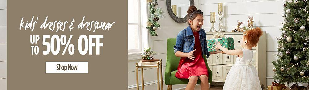 Up to 50% Off Kids' Dresses & Dresswear