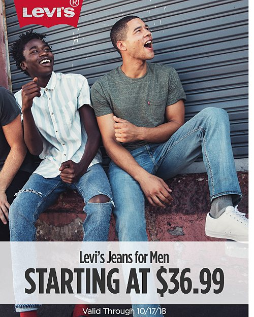 Starting at $36.99.Levi's Jeans for Men. Valid Through 10/17/18